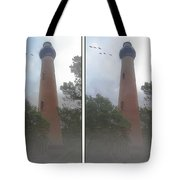 Currituck Beach Light Station - 3d Stereo Crossview Tote Bag