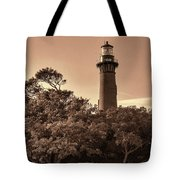 Currituck Beach Lighthouse - Sepia Tote Bag