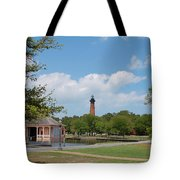 Currituck Lighthouse From Heritage Park Tote Bag