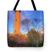 Currituck Lighthouse In Winter Outer Banks Ap Tote Bag