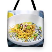 Curry Sauce Vegetable Salad With Noodles And Sesame Tote Bag
