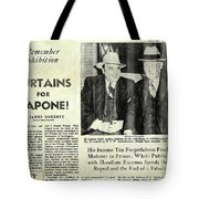 Curtains For Capone Tote Bag