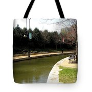 Curve In The Richmond Canal Tote Bag