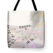 Curve - Round And Round, Abstract Cg Tote Bag