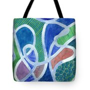 Curved Paths Tote Bag