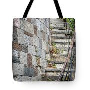 Curved Stone Staircase 235 Tote Bag