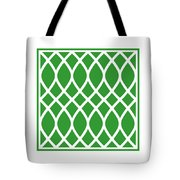 Curved Trellis With Border In Dublin Green Tote Bag
