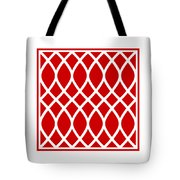 Curved Trellis With Border In Red Tote Bag