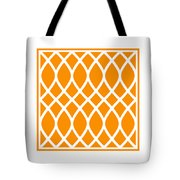 Curved Trellis With Border In Tangerine Tote Bag