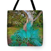 Curves And Fronds Tote Bag
