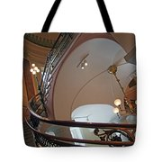 Stairs With Curved Lines Tote Bag