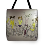 Curves Mural Tote Bag