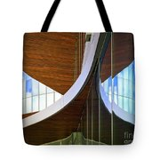Curving Reflections Tote Bag
