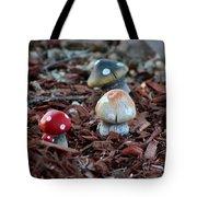 Cluster Of Toadstools  In Fairy Garden Tote Bag