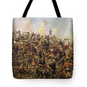 Custer's Last Stand From The Battle Of Little Bighorn Tote Bag