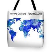 Custom World Map Tote Bag