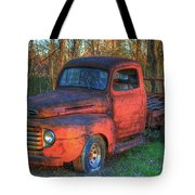 Customized Rust 1949 Ford Pickup Truck Tote Bag