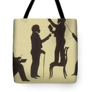Cut Silhouette Of Four Full Figures 1830 Tote Bag