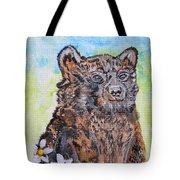 Cute Baby Black Bear Art Tote Bag