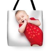 Cute Baby Boy Yawning Tote Bag