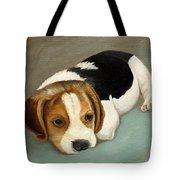 Cute Beagle Tote Bag by Angeles M Pomata