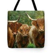 Cute Fluffy Cows Tote Bag