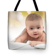 Cute Four Month Old Baby Boy Tote Bag