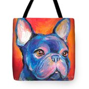 Cute French Bulldog Painting Prints Tote Bag