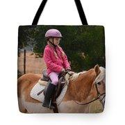 Cute Girl On Horse 2 Tote Bag