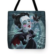 Cute Gothic Horror Vampire Woman Tote Bag
