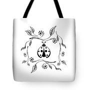 Cute Ladybug Baby Room Decor Vi Tote Bag