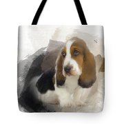 Cute Little Basset Artesien Normand Puppy Tote Bag