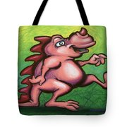Cute Little Pink Dragon Tote Bag