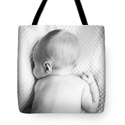 Cute Newborn Baby Black And White Tote Bag