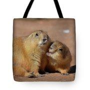 Cute Prairie Dog Nipping At His Friend Tote Bag
