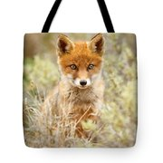 Cute Red Fox Kit Tote Bag