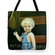 Cutie By The Train Tote Bag