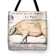 Cuts Of Pork Tote Bag