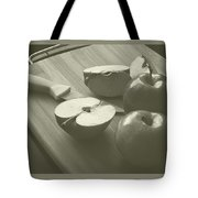 Cutting Apples Tote Bag
