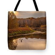 Cuyahoga Valley Autumn Sunset Tote Bag
