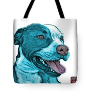 Cyan Bull Fractal Pop Art - 7773 - F - Wb Tote Bag