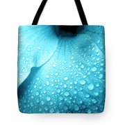 Aqua Droplets Tote Bag