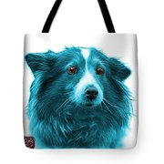 Cyan Shetland Sheepdog Dog Art 9973 - Wb Tote Bag