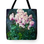 Cyclamen In Orbit Tote Bag