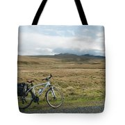 Cycle Across The Beacons Cycle Route. Tote Bag