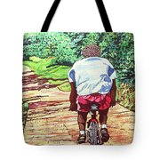 Cycling Home Tote Bag
