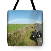 Cycling To The Rainbow Tote Bag