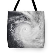 Cyclone Zoe In The South Pacific Ocean Tote Bag