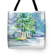 Cypress At San Pedro Center Tote Bag