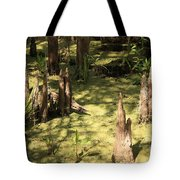 Cypress Knees In Green Swamp Tote Bag